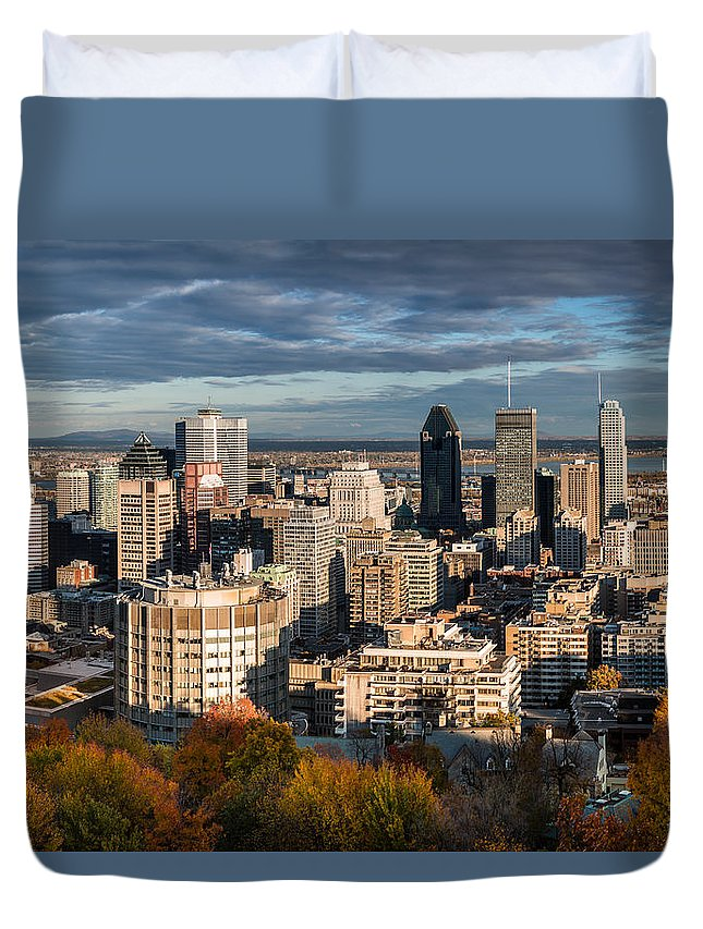 Day Duvet Cover featuring the photograph Mont Royal by Mihai Andritoiu