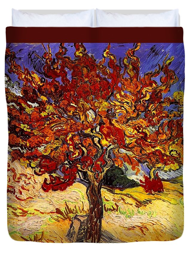 Vincent Van Gogh Duvet Cover featuring the painting Mulberry Tree by Vincent Van Gogh
