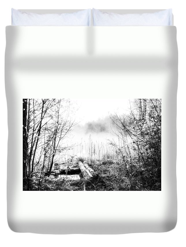 Ice Fog Duvet Cover featuring the photograph Natural Ice Fog by Yevgeni Kacnelson