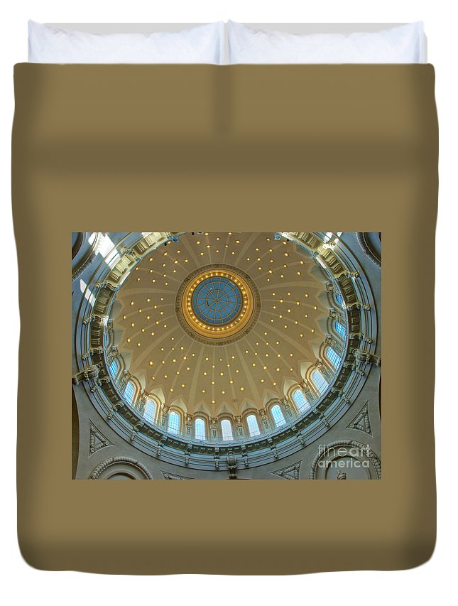 Academy Duvet Cover featuring the photograph Naval Academy Chapel Side Dome by Mark Dodd