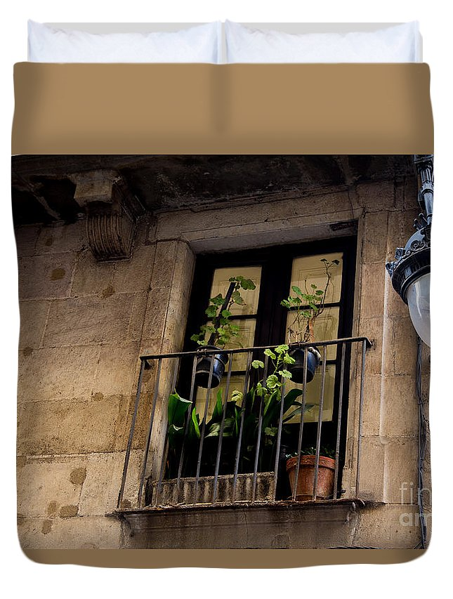 Courtyard Duvet Cover featuring the photograph Night Light by Rene Triay Photography