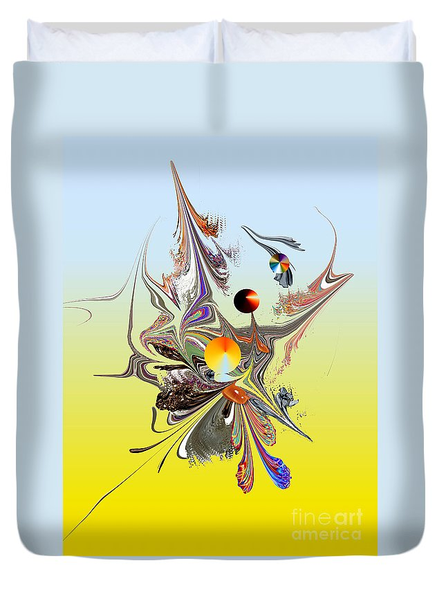 Duvet Cover featuring the digital art No. 699 by John Grieder