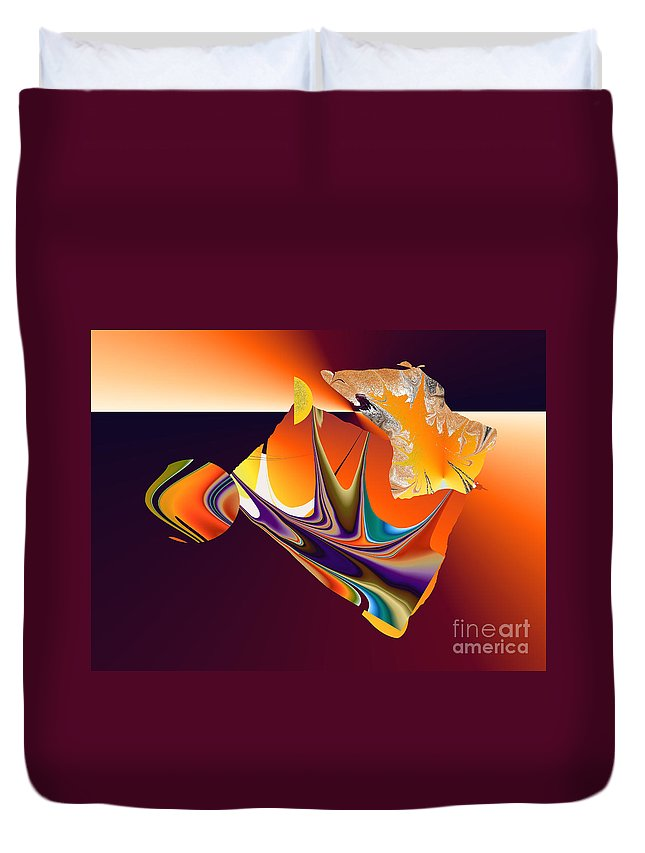 Duvet Cover featuring the digital art No. 723 by John Grieder