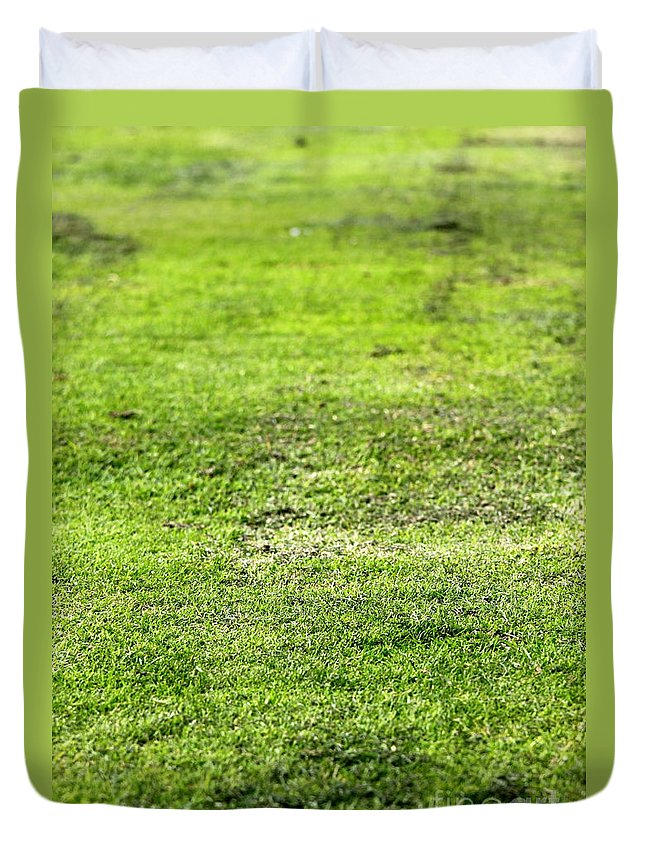 Old Duvet Cover featuring the photograph Old Green Grass by Henrik Lehnerer