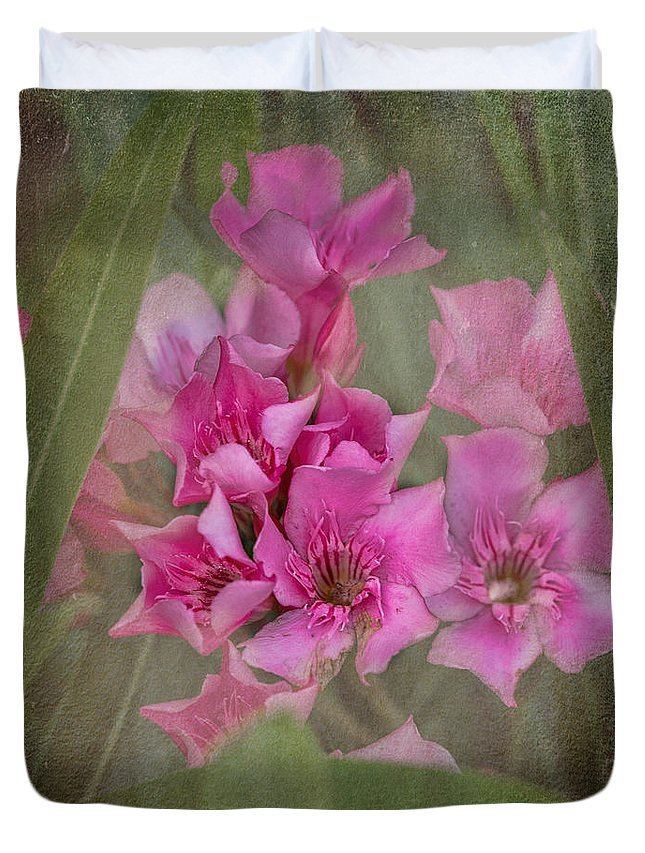 Oleander Duvet Cover featuring the photograph Oleander Cluster by TN Fairey