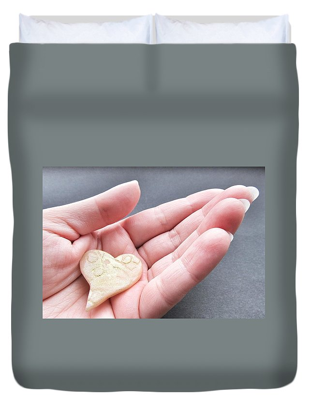 One Love Duvet Cover featuring the photograph One Love by Marianna Mills