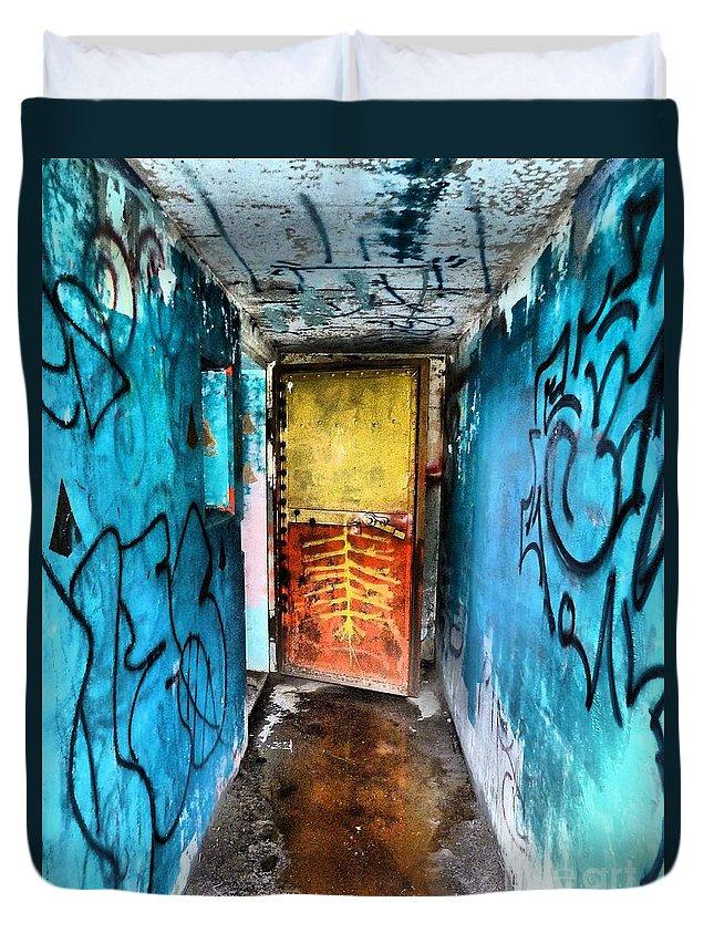 Abstract Duvet Cover featuring the photograph Open Door by Lauren Leigh Hunter Fine Art Photography
