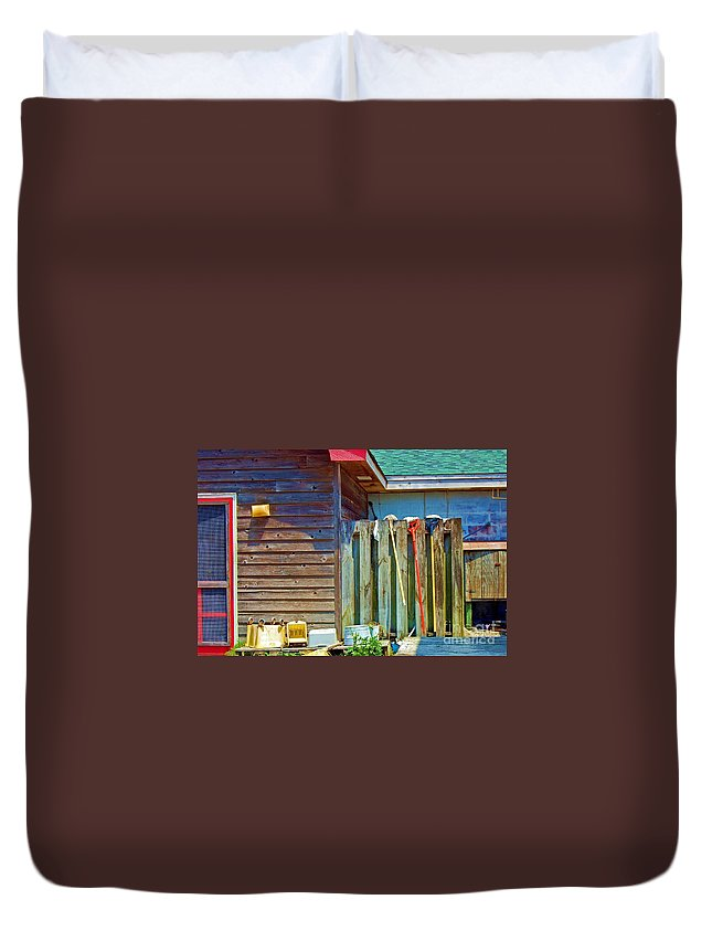 Building Duvet Cover featuring the photograph Out To Dry by Debbi Granruth