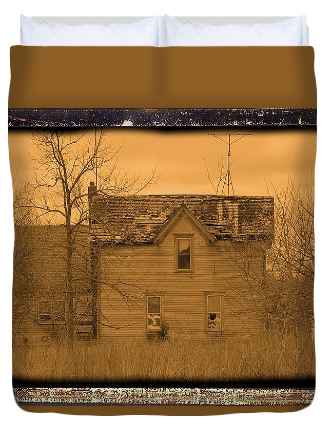 House Duvet Cover featuring the photograph Pain by Bonfire Photography