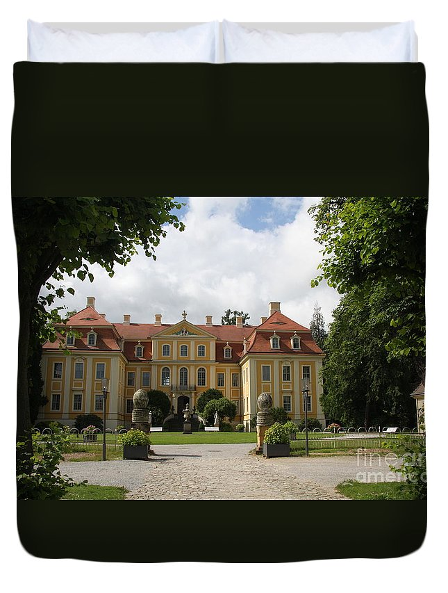 Palace Duvet Cover featuring the photograph Palace Rammenau - Germany by Christiane Schulze Art And Photography