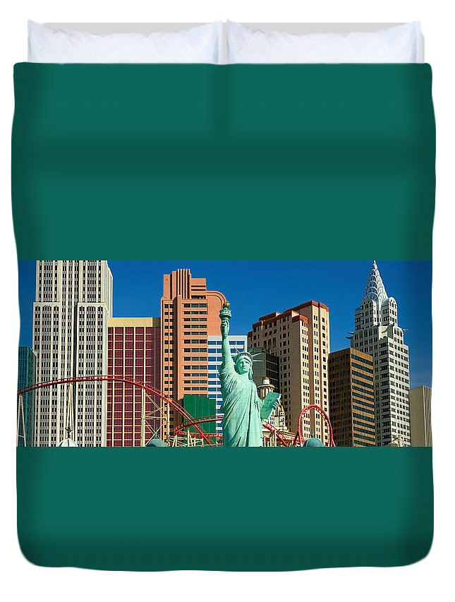 Photography Duvet Cover featuring the photograph Panoramic View Of New York New York by Panoramic Images