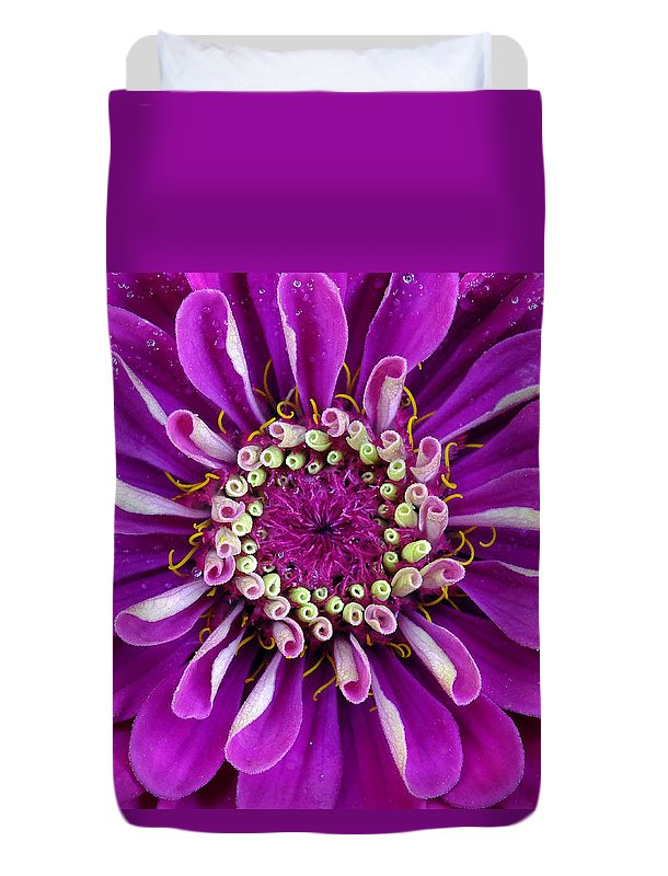 Flower Duvet Cover featuring the photograph Passionately Purple by Bill Morgenstern