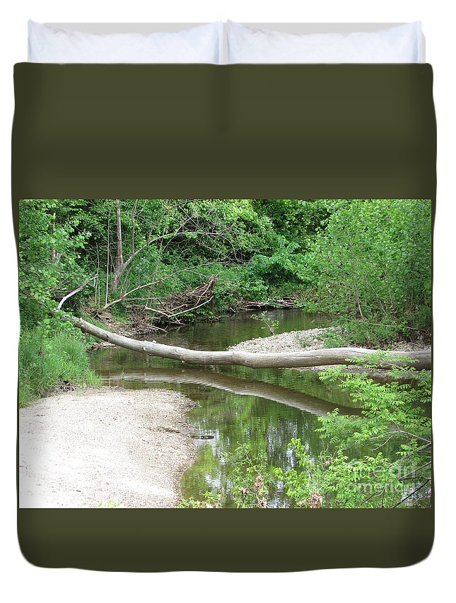Landscape Duvet Cover featuring the photograph Peaceful Crossing by Jamie Smith