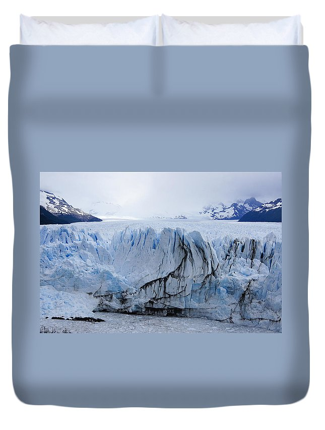 Argentina Duvet Cover featuring the photograph Perito Moreno Glacier by Michele Burgess