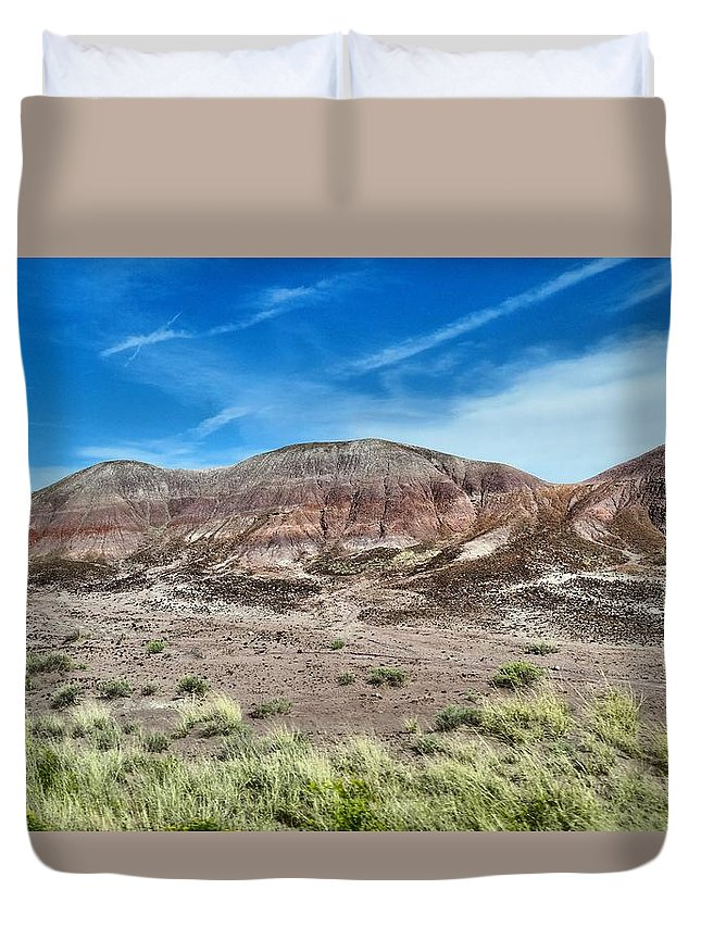 Petrified Forest National Park Duvet Cover featuring the photograph Petrified Forest National Park by Dan Sproul
