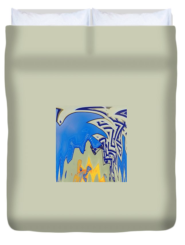 Abstract Duvet Cover featuring the digital art Phoenix Rising by Lenore Senior