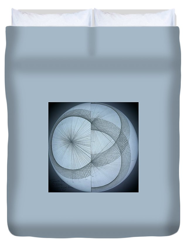 Photon Duvet Cover featuring the drawing Photon Double Slit Test by Jason Padgett