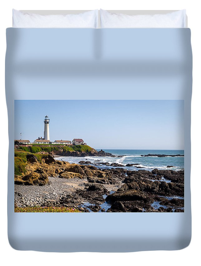 California Duvet Cover featuring the photograph Pigeon Point by David Hart