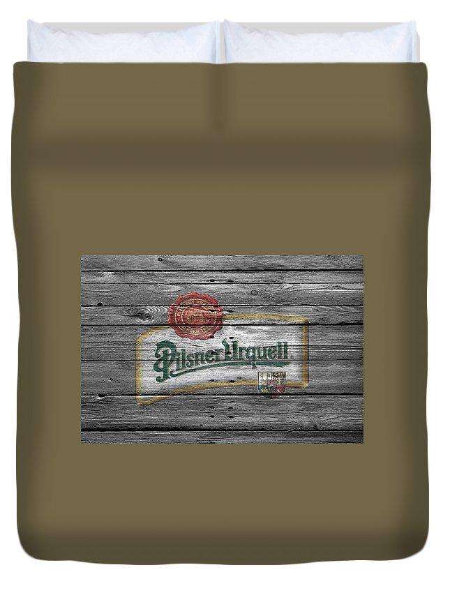 82835c022f9739 Pilsner Urquell Duvet Cover featuring the photograph Pilsner Urquell by Joe  Hamilton