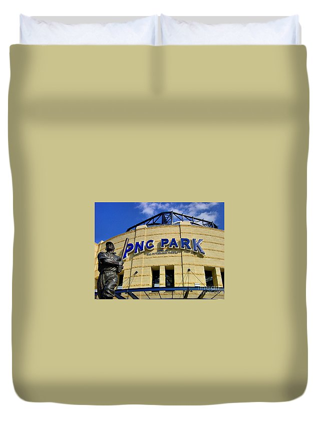Alleghen County Duvet Cover featuring the photograph Pnc Park Baseball Stadium Pittsburgh Pennsylvania by Amy Cicconi