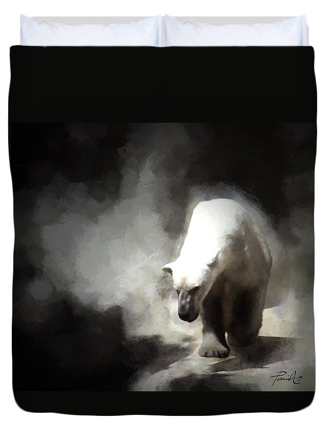Polar Duvet Cover featuring the digital art Polar Bear by Patti Parish