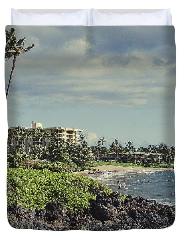 Aloha Duvet Cover featuring the photograph Polo Beach Wailea Point Maui Hawaii by Sharon Mau