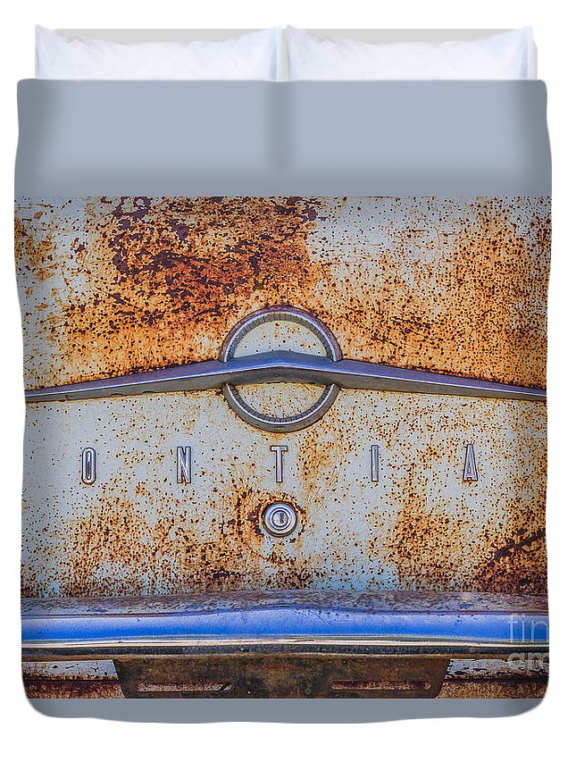 Car Duvet Cover featuring the photograph Pontiac by Ashley M Conger