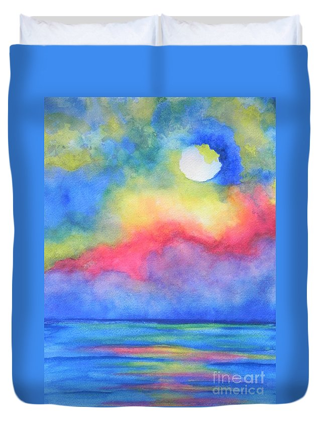 Fine Art Painting Duvet Cover featuring the painting Power Of Nature by Chrisann Ellis