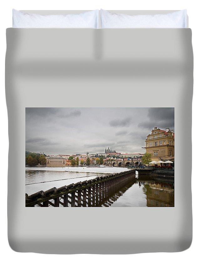 Prague Duvet Cover featuring the photograph Prague by Chris Smith
