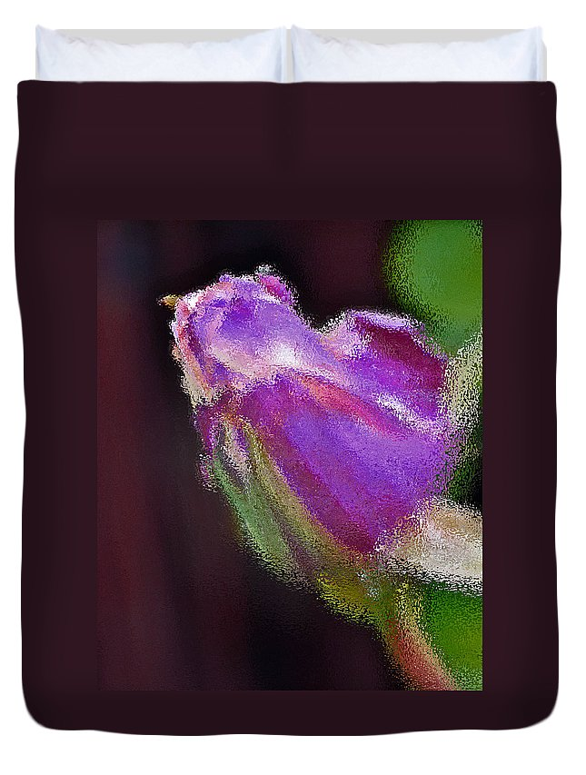 Purple Duvet Cover featuring the photograph Purple Rose by Bill Owen