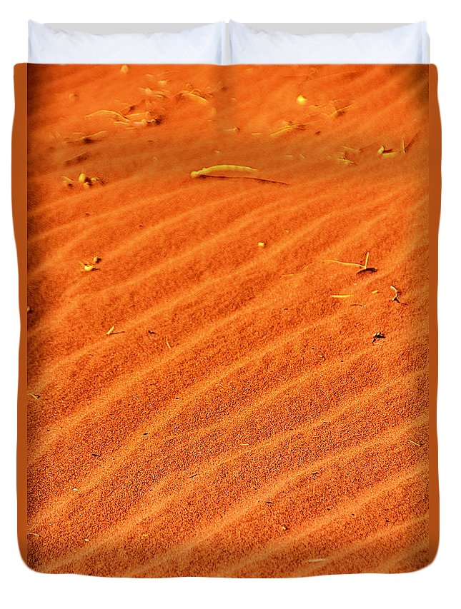 Red Dune Duvet Cover featuring the photograph Red Dune by Douglas Barnard