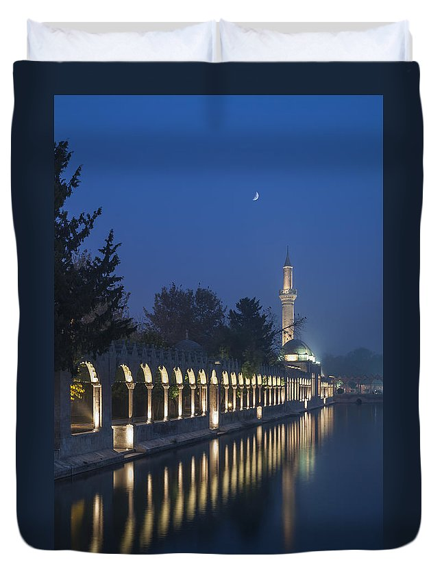 People Duvet Cover featuring the photograph Rizvaniye Mosque And Halil-u Rahman by Ayhan Altun