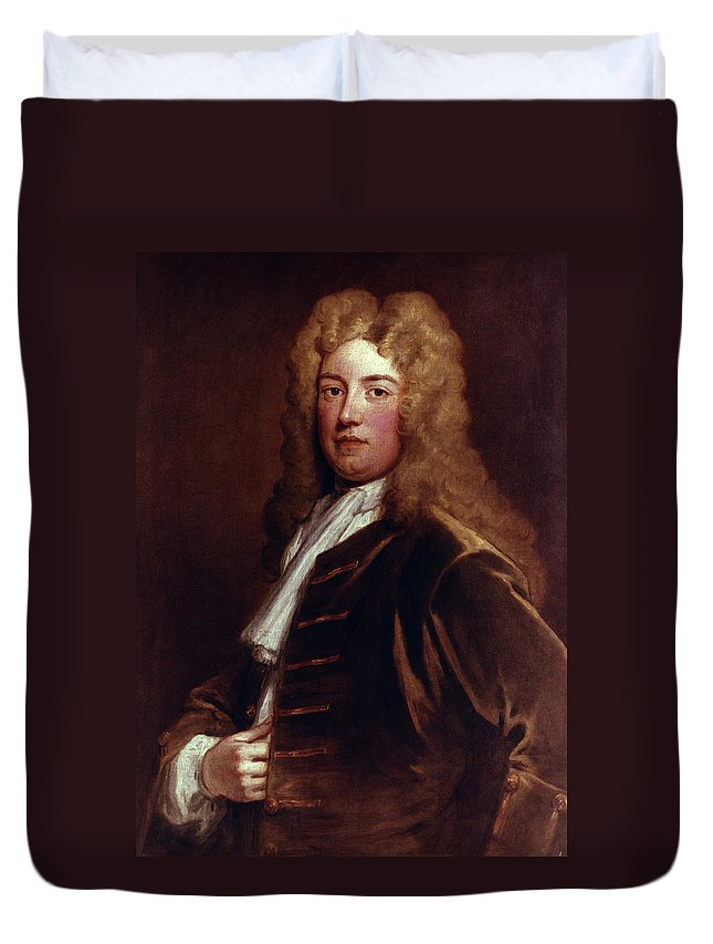 1710 Duvet Cover featuring the painting Robert Walpole (1676-1745) by Granger