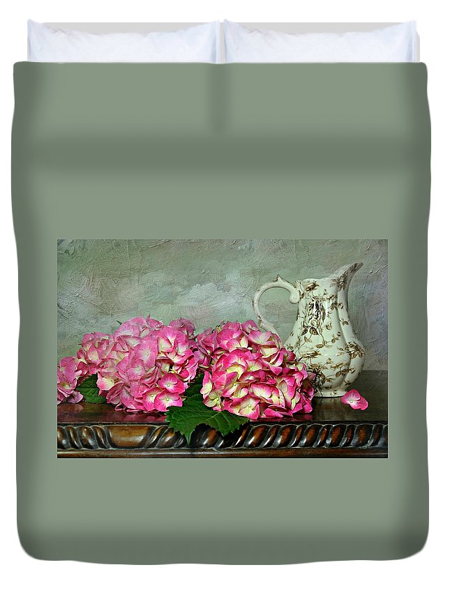Table Top Still Life Duvet Cover featuring the photograph Romance by Diana Angstadt