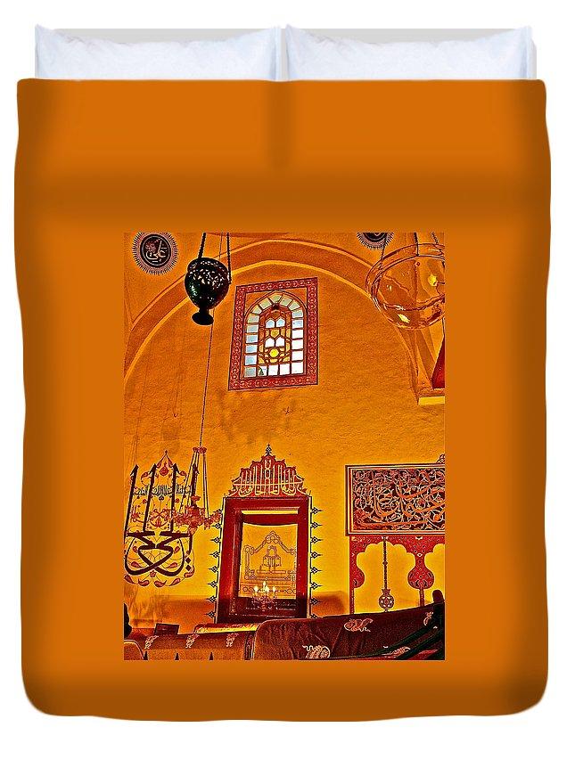 Room For Rumi's Sarcophagus In Konya Duvet Cover featuring the photograph Room For Rumi's Sarcophagus In Konya-turkey by Ruth Hager