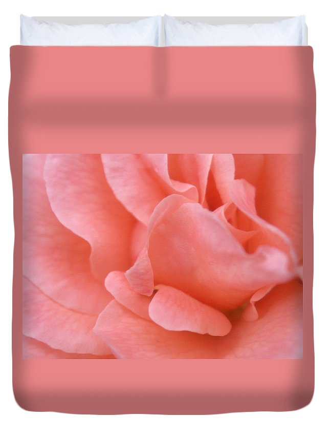 Pink Duvet Cover featuring the photograph Rose by Rachel Down