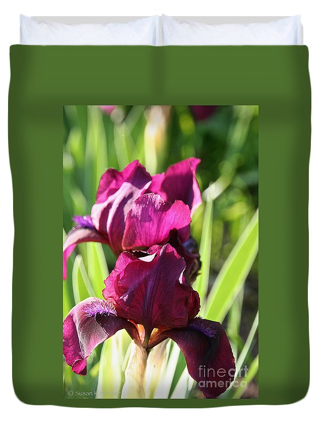 Flower Duvet Cover featuring the photograph Royal Colors by Susan Herber