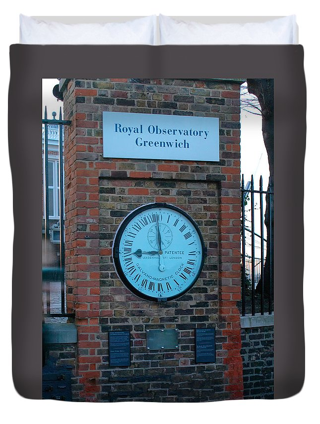 England Duvet Cover featuring the digital art Royal Observatory Grenwich by Carol Ailles