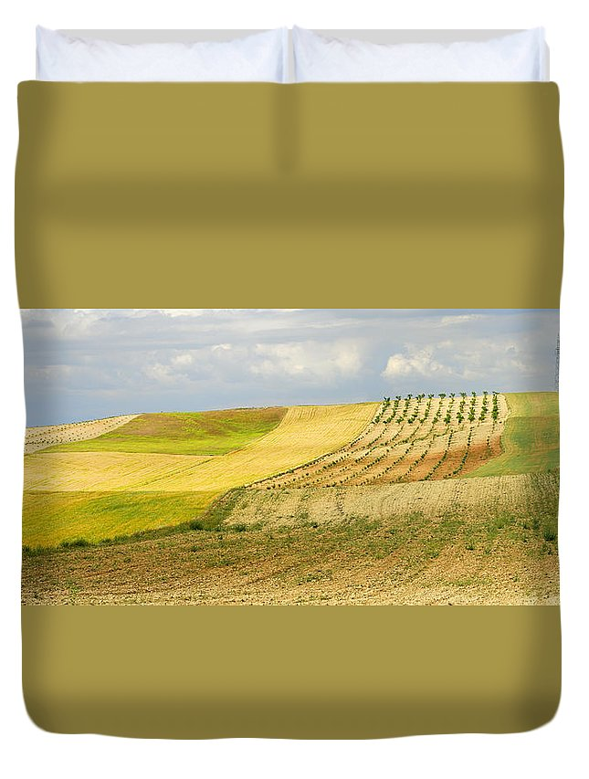 Rural Duvet Cover featuring the photograph Rural Fields by Guido Montanes Castillo