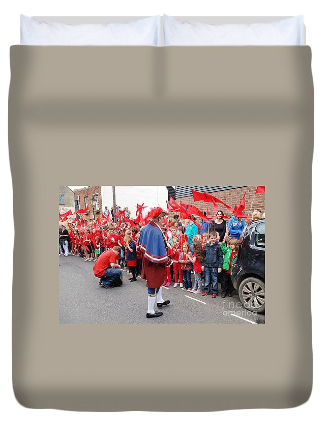 Olympic Duvet Cover featuring the photograph Rye Town Crier by David Fowler