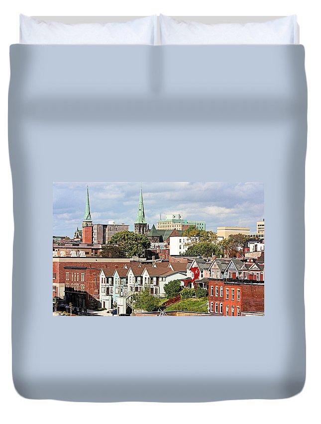 Saint John Duvet Cover featuring the photograph Saint John New Brunswick by Kristin Elmquist
