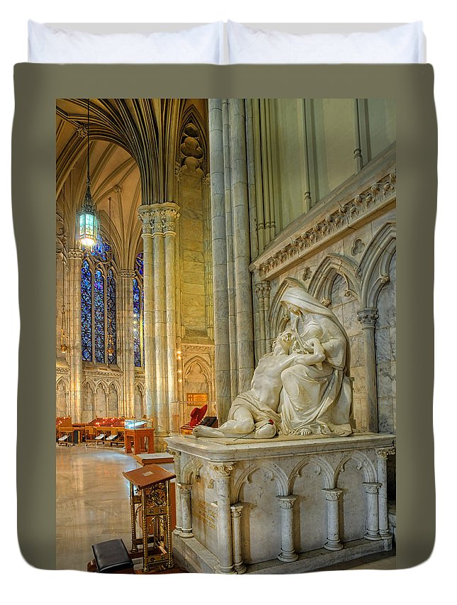 Saint Patricks Cathedral Duvet Cover featuring the photograph Saint Patricks Cathedral by Dave Mills