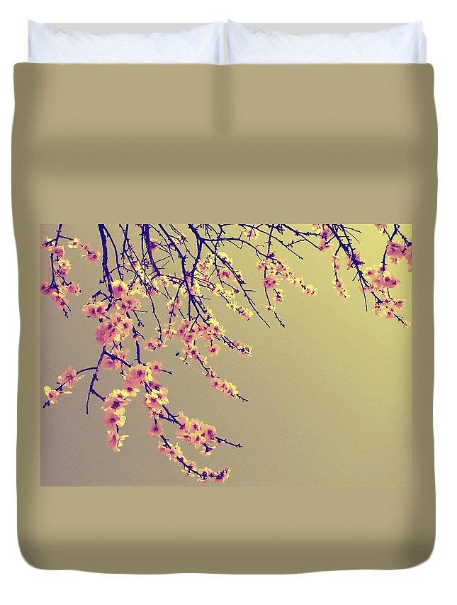 Sakura Duvet Cover featuring the photograph Sakura by Marianna Mills
