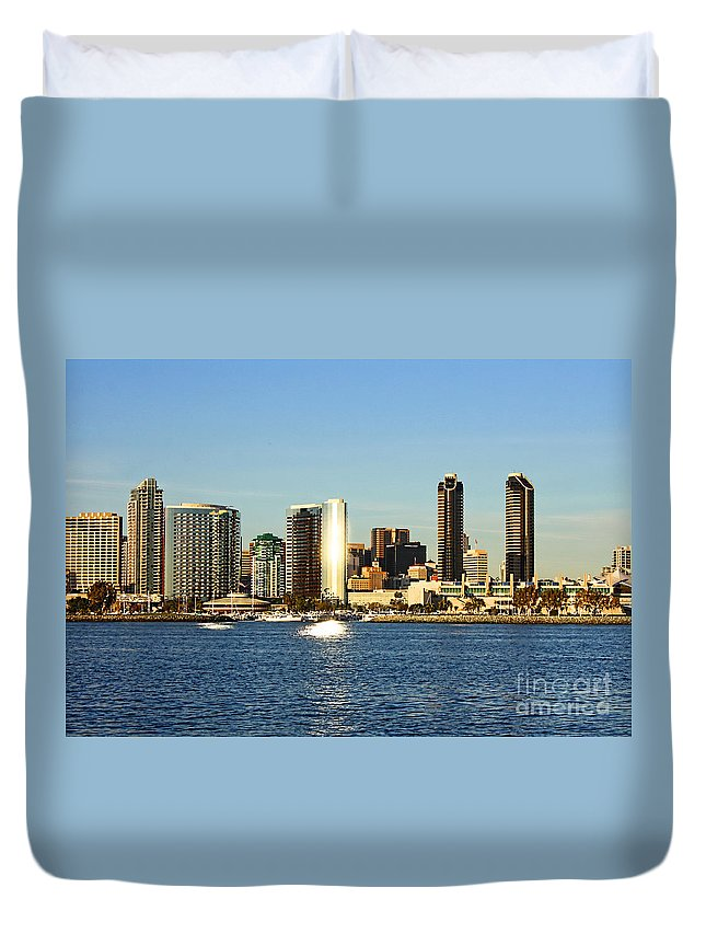 San Diego Duvet Cover featuring the photograph San Diego by Tommy Anderson