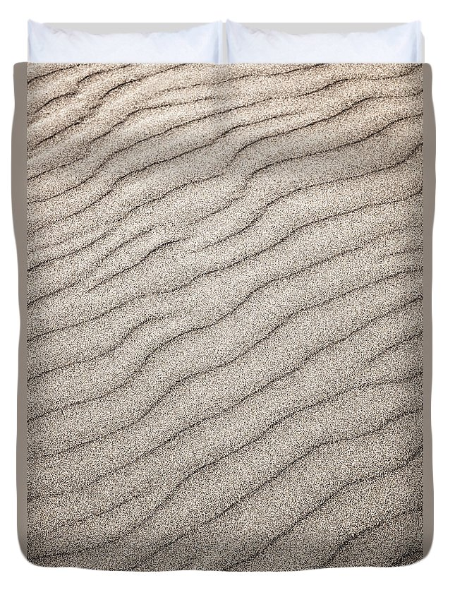 Sand Duvet Cover featuring the photograph Sand Ripples Abstract by Elena Elisseeva