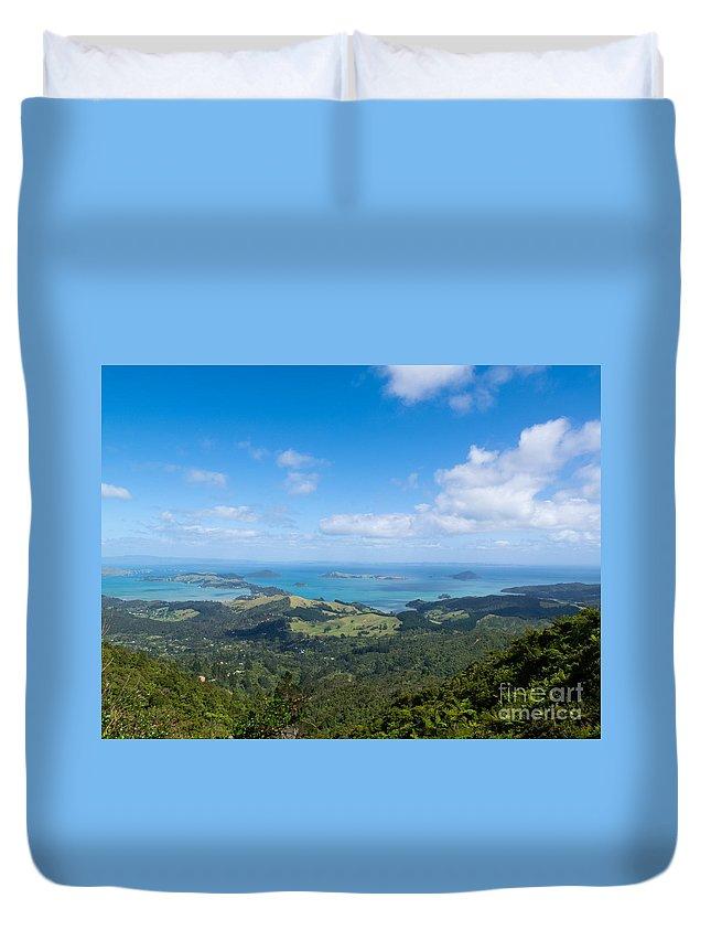 Bay Duvet Cover featuring the photograph Scenic Coromandel Peninsula Nz Coastline Seascape by Stephan Pietzko