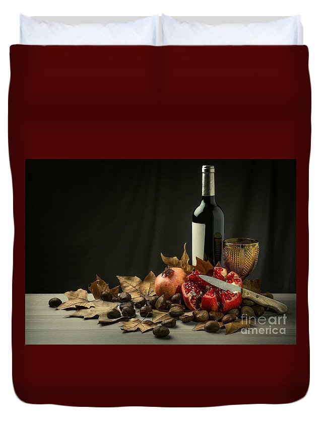 Winter Duvet Cover featuring the photograph Seasonal Still-life by Carlos Caetano