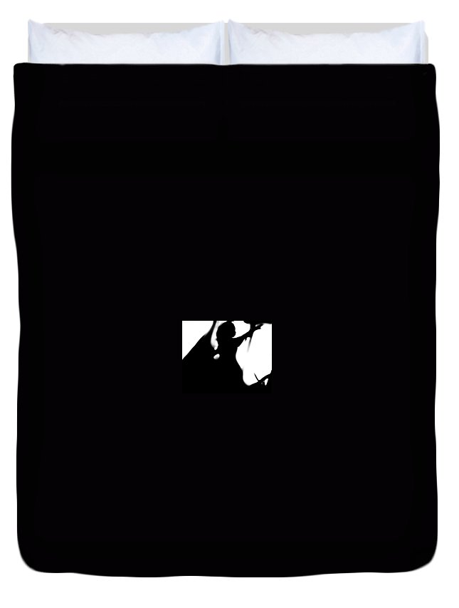 Black Duvet Cover featuring the photograph Silhouette by Jessica Shelton