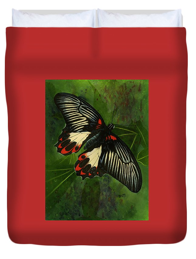 Insect Duvet Cover featuring the mixed media Simplicity by Barbara Keith