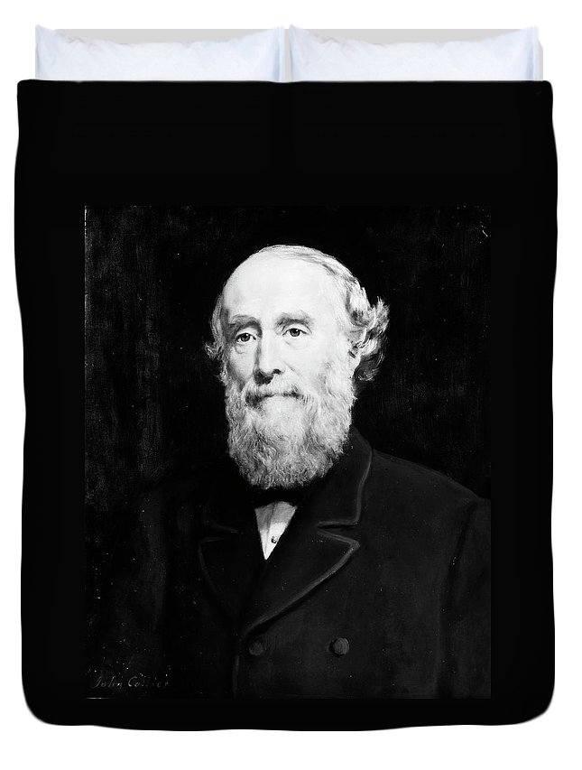 19th Century Duvet Cover featuring the painting Sir George Williams (1821-1905) by Granger